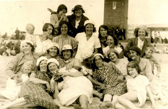 Photo:The neighbours enjoying their day at Littlehampton c. 1934/5