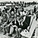 Photo:Family group on the beach at Littlehampton