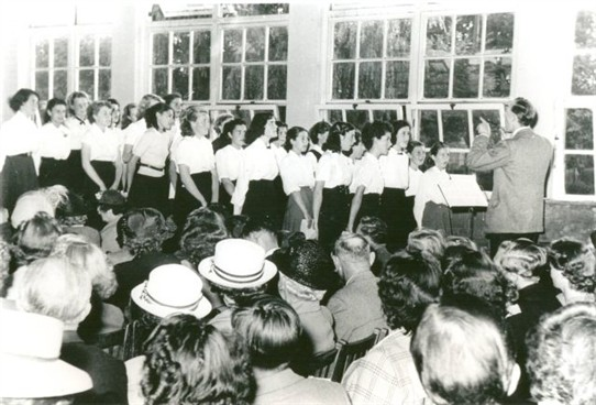 Photo:Green Wrythe Lane Secondary Girls School Choir c1953-4