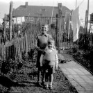 Photo:Eric and Bert Wrate in the back garden at 5 Marham Road c.1934