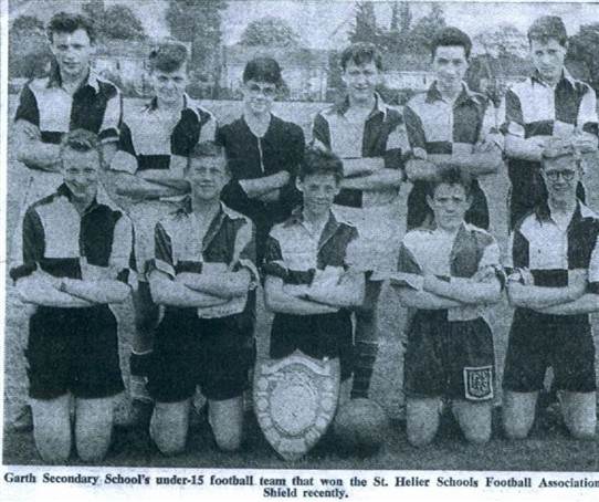 Photo:Garth School under 15 football team who won the St. Helier Schools Football Association Shield