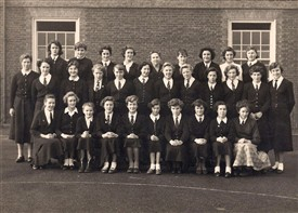 Photo:First year at Malmesbury Technical School