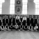 Photo:Malmesbury Girls School 1957/8.The late Maureen Laming is sitting third from right.