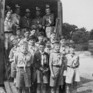 Photo:Going to Summer Camp in 1952 were from front to the back Alan Trower, Les Bird, Alan Bean, Stan Masters, Mike Davis, Alan Good, Ron Bird, Roy Scales, Bob Harvey, John Baldry, Eric Pearcy and Dave Smith