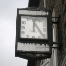 Photo:Clock at Rosehill above Alfred Smith Funeral Directors