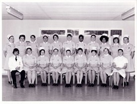 Photo:Trainees at St. Helier Hospital in the early 1970s