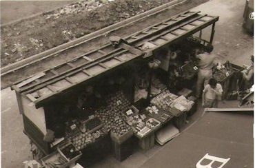 Photo:Ted Thomson's fruit and veg barrow which served The Circle for many years
