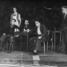 Photo:Tweeddale Drama group in The Hole in the ground. The older gentleman in glasses is Hugh Morris who later became Head of No.6 School
