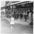 Photo:The Co-op at The Circle with daughter c. 1962
