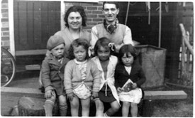 Photo:Early residents, the Thomas family and neighbours